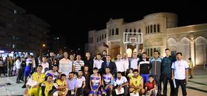 Nusaybin'de sokak basketbolu turnuvası düzenlendi