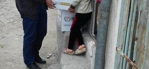 Aksaray'da yardıma muhtaç ailelere ramazan kumanyası
