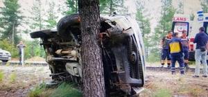 Para nakil aracı kaza yaptı; 2 yaralı