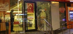 Kırılan banka camı polisi harekete geçirdi