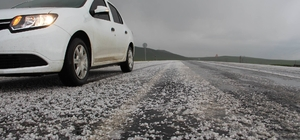Digor'da dolu yağışı
