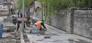Osmanlı Projesi kapsamında kaldırımlar yenileniyor