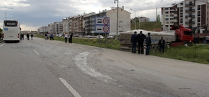 Sivas'ta yolcu otobüsüyle tır çarpıştı: 1 yaralı