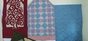 Burhaniye' de kırkyama yatak örtüleri 3 bin liradan satışa çıktı
