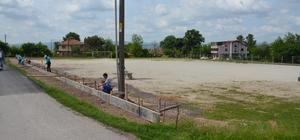 Sarımeşe futbol sahası revize ediliyor
