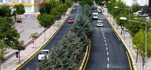 Ebulfeyz Elçibey Caddesine sıcak asfalt serildi