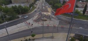 Tramvay yan yollarında asfaltlama yapıldı