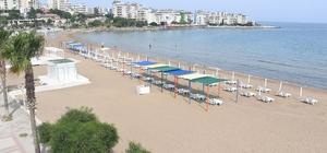 Mersin sahilleri sezona hazırlanıyor