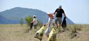 Muğla'da hükümlüler çevre temizliği yaptı