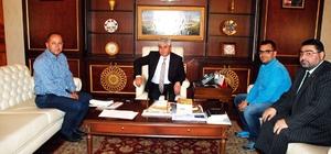 THKD Başkanı Polatel ve KKDGC Başkanı Daşdelen'den Vali Doğan'a ziyaret