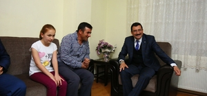 Başkan Mustafa Ak, İsimbay ailesine Ramazan konuğu oldu