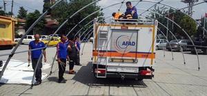 Çanakkale AFAD Manisa'daki deprem bölgesinde