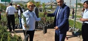 Yüksekova Belediyesi 13 bin fidan dağıttı