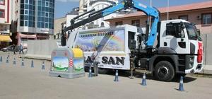 Karakoçan'da vinçli çöp toplama sistemi hayata geçiyor