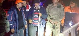 Gümüşhane'de kaybolan yaşlı adam 4 saat sonra bulundu
