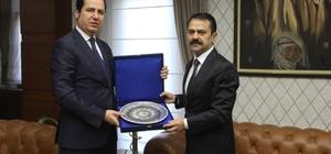 Adalet Komisyon Başkanı Demirtaş, Vali Aktaş'a veda ziyaretinde bulundu