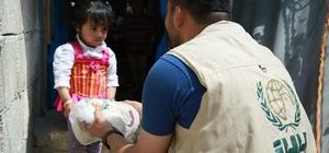 İHH'den Suriyeli ailelere ekmek yardımı
