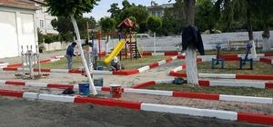 Sokak ve parklarda bakım çalışmaları