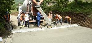 Tekkeköy Belediyesinden beton yol atağı