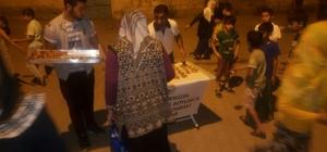 Bismil Belediyesinden, teravih sonrası tatlı ikramı