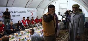 Türk Kızılayı Genel Başkanı Kınık iftarını Suriye'de yaptı