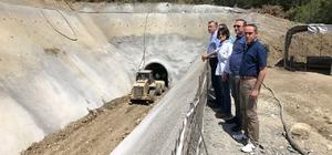 DSİ Bölge Müdürü Coşkun, Kaş Kıbrıs Barajını inceledi