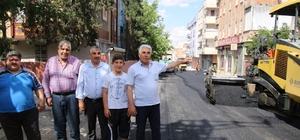 Büyükşehir Eyyübiye'de yolları güçlendiriyor