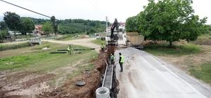 Karapürçek'te yapımına başlanan altyapı projesinde çalışmalar sürüyor