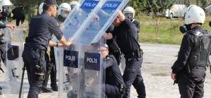 Ordu'da çevik kuvvet polislerine zorlu eğitim