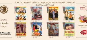 Kartal'da Ramazan ayı boyunca açık hava sineması nostaljisi
