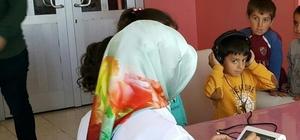 Bingöl'de öğrenciler işitme testinden geçirildi