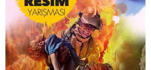 Konya itfaiyesinden üniversite öğrencilerine yönelik resim yarışması