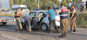 Osmaniye'de otomobille minibüs çarpıştı: 1 ölü, 8 yaralı