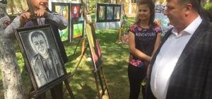Beylikova'da lise öğrencilerinden yıl sonu resim sergisi