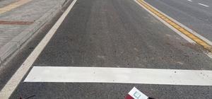 Kent genelinde yol çizgi çalışması yapılıyor