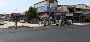 Erenler Modern Sanayinde asfalt çalışmaları sürüyor