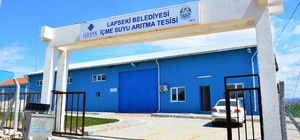 Lapseki'de içme suyu arıtma tesisi tamamlandı