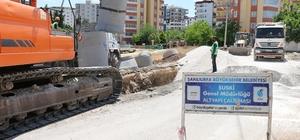 Karaköprü ilçesinde drenaj hat döşeme çalışmaları devam ediyor