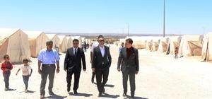 Müsteşar Yardımcısı Karabay, mülteci kampında