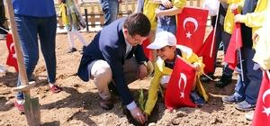 Başkan Subaşıoğlu öğrencilerle hobi bahçelerine fidan dikti
