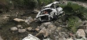 Kastamonu'da uçuruma yuvarlanan otomobilin sürücüsü öldü