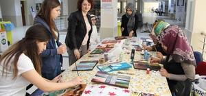 Üniversite öğrencileri atık malzemeleri sanat eserine dönüştürdüler