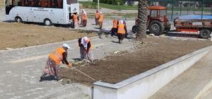 'Burhaniye Engelleri Aşıyor Projesi'nde çevre düzenlemesi