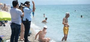 Denizde kaybolduğu sanılan Rus turist polisi alarma geçirdi