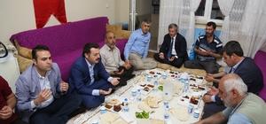 Başkan Mehmet Tahmazoğlu, iftarını şehit evinde açtı