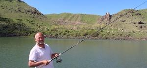 Olta balıkçılarının yeni gözdesi Pırdanos Gölü