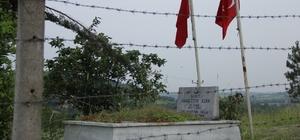 Şehit mezarı bakıma muhtaç kaldı