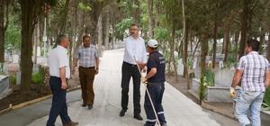 Karacabey mezarlıklarında kapsamlı temizlik