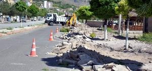 Güney Aşağı mahallesinde asfaltlama öncesi hazırlık çalışmaları devam ediyor