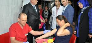 Bolu Valisi Baruş'tan ilik bekleyen hastalara destek